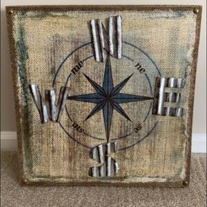 Farmhouse Compass Wall Decor